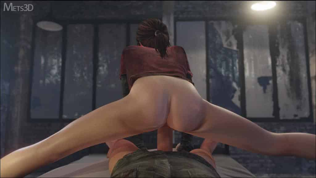 Last of us Ellie riding huge penis in her bed – rule34
