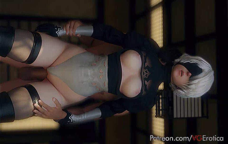2B moaning with BBC in her pussy – rule34