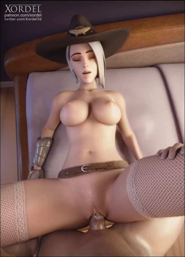 Ashe fucked in missionaire on the bed –