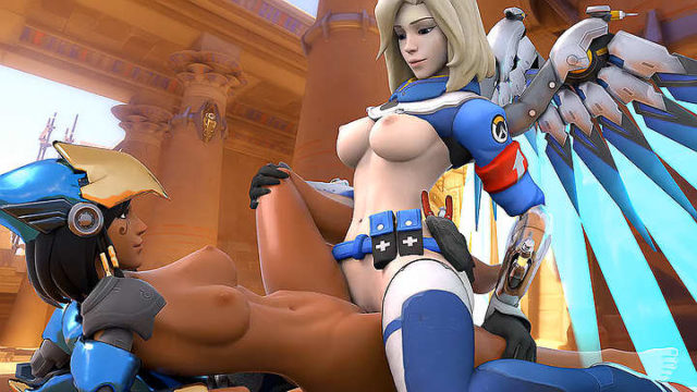 Pharah and mercy pussy on pussy GIF