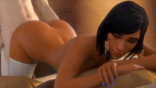 Pharah gives in the ass GIF