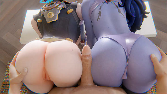 Widow and Mercy Assjob – rule 34 x