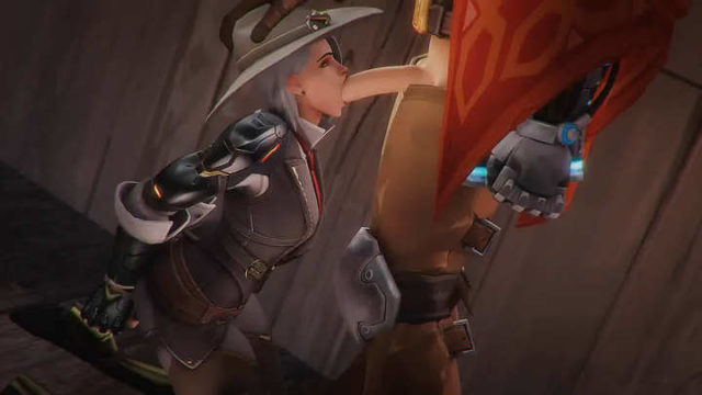 Ashe sucking Mccree dick – OW Porn