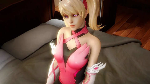 long Scene Pink Mercy overwatch hentai